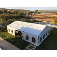 China 12mX21m Outdoor Event Tents Popular Waterproof  Fiire Retardant  White With Windows wholesale