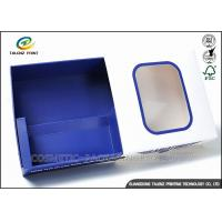 China Promotional Electronics Packaging Boxes Blue Paperboard Customized Sizes wholesale