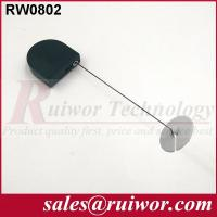 Wholesale Balck / White Bazaar Display Security Tether With Adhesive ABS Plate / 2.8x2.8x0.8Cm Box from china suppliers