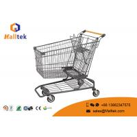 China Galvanized American Style Retail Shopping Trolleys Flat Tube Foot For Hypmarket on sale