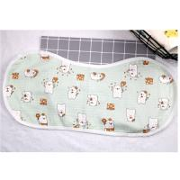 China Adjustable Infant Bandana Burp Cloths , Muslin Baby Clothes Bibs Four Layers wholesale
