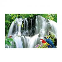 China Large Size PET 3D Lenticular Printing Poster Of Waterfall Scenery Theme wholesale
