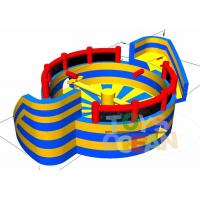 China Inflatable Fun Interactive Party Games Eliminator Wipeout Course 110 - 230V Blower wholesale