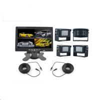 China 4 Night Vision Rear View Camera With 7 inch Quad Monitor For Heavy Duty Vehicles wholesale