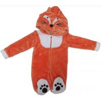 Buy cheap Flannel Fleece Unisex Toddler Clothes / Unisex Baby Stuff With Hat And Tail from wholesalers