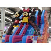 China Big Inflatable Water Slides For Pools / Mickey Mouse Inflatable Double Water Slide wholesale