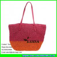 China LUDA chic factory supplied straw bag hand knitting paper straw shoulder bag on sale