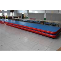 China Kids Gymnastic Club Blow Up Gymnastics Mat , Inflatable Cheer Mat Long Life Span wholesale