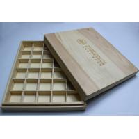 China Engraved Decorative Wooden Boxes with Dividers , Customized Wooden Storage Boxes for Esential Oil Packaging wholesale