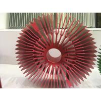 Quality Red Anodized Aluminum Sunflower Radiator Led Cylindrical Heat Sink for Tracking for sale