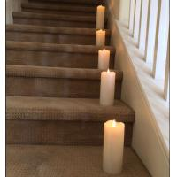 China LED realistic wax flameless moving candles with battery operate on sale