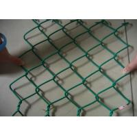 China Green Galvanized Steel Wire Chain Link Fence 4.5mm Plain Woven For Protection wholesale