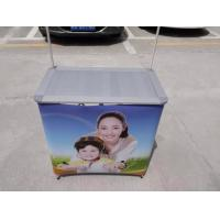 Quality Aluminum Alloy Promotional Display Counter With Full Color Graphic Printing for sale