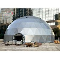 China 20m Diameter Geodesic Dome Tents With Silver Grey Cover And Glass Door wholesale
