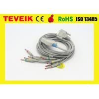 China telemetry ekg IEC Banana 4.0  ECG cable with integrated 10 lead wires for Nihon Kohden EKG machine on sale