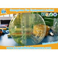 China TPU Inflatable Bumper Ball Half Color Human Sized Soccer Bubble on sale