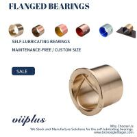 China Precision Flanged Groove Cast Bronze Bushings Spiral Inside Groove Bearings wholesale