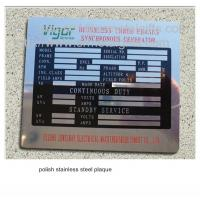 Buy cheap Polish stainless steel business plaque with black filled, polished steel plates, from wholesalers