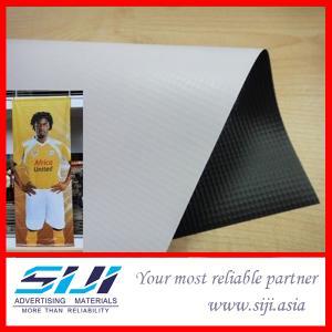 China Laminated Flex Banner, white / black backing wholesale
