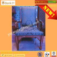 (BK0109-0016C)Noble Sapphire Blue 12 Dining Chairs, Fantastic Mysterious Purple Superb Craft Royal Palace Dining Furnitu