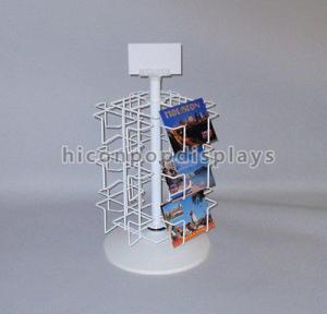 China Retail Metal Spinner Display Rack Countertop , Spinning Book Rack For Postcard wholesale