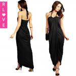 China Delicate workship handmade slim thin section skirt bud elegant Greek style halter dress wholesale