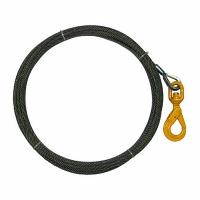 "China 5/16"" x 50 FT Wire Rope Sling Winch Line Self Closing Swivel Hook 10540 lbs Breaking Strength wholesale"