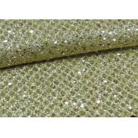 Foil Plain Polyester Glitter Stretch Mesh Fabric For Making Shoes Bags Wall Paper