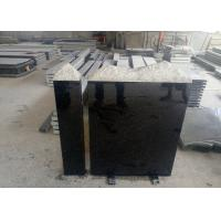 China European Style Granite Memorial Headstones Black Galaxy / Other Color wholesale