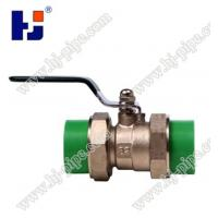 China Plastic pipe fittings PPR brass ball valve with double union wholesale