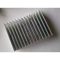 China Extruded Aluminum HeatSink Silver Anodizing CNC Machining Cool Fin Heat Sink CE GS For LED Lighting wholesale