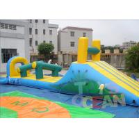 China Orange Inflatable Pool Games / Inflatable Water Slide Park For Holiday wholesale