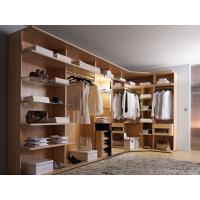 China Modern style veneer door designs L-shaped wood clothes closet wholesale