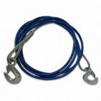 China Heavy-Duty 12' Emergency Tow Cable with Safety Hooks - 3/8, with PVC Jacket, Protects Hands wholesale