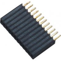 China 1*12P H=8.5 Female Header Connector Connector 1.27 Mm Pitch Phosphor Bronze wholesale