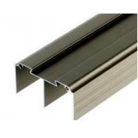 China Golden / Silver Anodized Profile Aluminum Extrusions For Curtain Wall wholesale