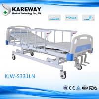 Manual Type Three Crank ICU Hospital Beds With Fold Away Side Rail Height Adjustment