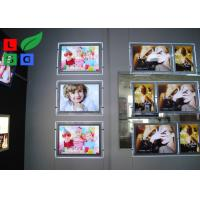 China Portrait View Crystal Light Box Display A2 Size With Cable Hanging Kits wholesale