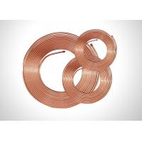 China TP2 Soft Copper Pipe Copper Pancake Coil , Refrigeration Copper Pipe 0.35-1.20mm Thick wholesale