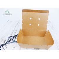China Venting Paper Takeaway Boxes With Degassing Holes For Hot Take Out Food wholesale