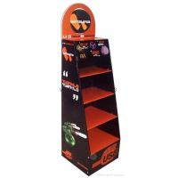 China Magazine corrugated cardboard display stands / POP display rack with 4c offset printing wholesale