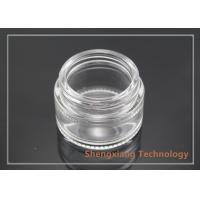 Quality 25ml Round Glass Jars For Cosmetics , Clear Glass Bottles with Screw Neck for sale