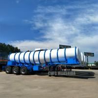 China 19m3 Tri-axle 98% chemical transport tanker trailer acid tanker trailer sulfuric acid tanker trailer on sale
