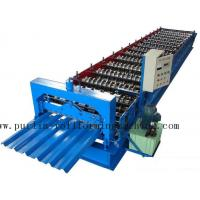 China PLC Steel Metal Roof Panel Roll Forming Machine , Roofing Sheet Roll Former 5 Ton wholesale