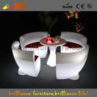 Buy cheap Round Comfortable Led Glowing Plastic Chairs For Night Bar from wholesalers