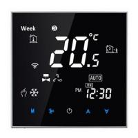 China Touch screen WIFI app control room thermostat -Nero Specchio Design DKT-S200 for under floor heating wholesale