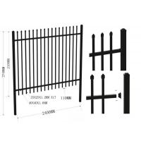 Quality Powder Coating Black Garrison Metal Security Fence Panels2.1MX2.4M Rails 40mm for sale