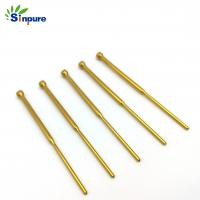 China Gold Plated Brass Copper Tube Custom Cnc Brass Switching Test Probes For Spare Part on sale