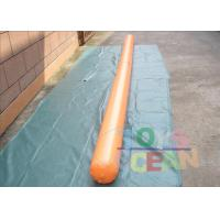 China Dia 0.22m 4.6m Length Orange Inflatable Water Game Floating Tube For Water Park wholesale