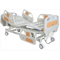 China Anti Rust Double Hand Mute Wheel Manual Hospital Bed on sale
